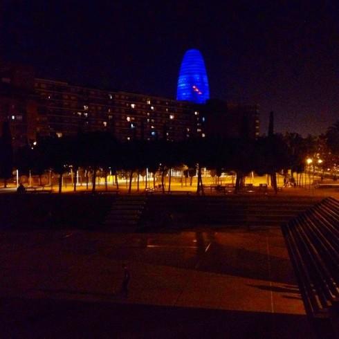 Barca. Parc El Clot & Akbar Tower